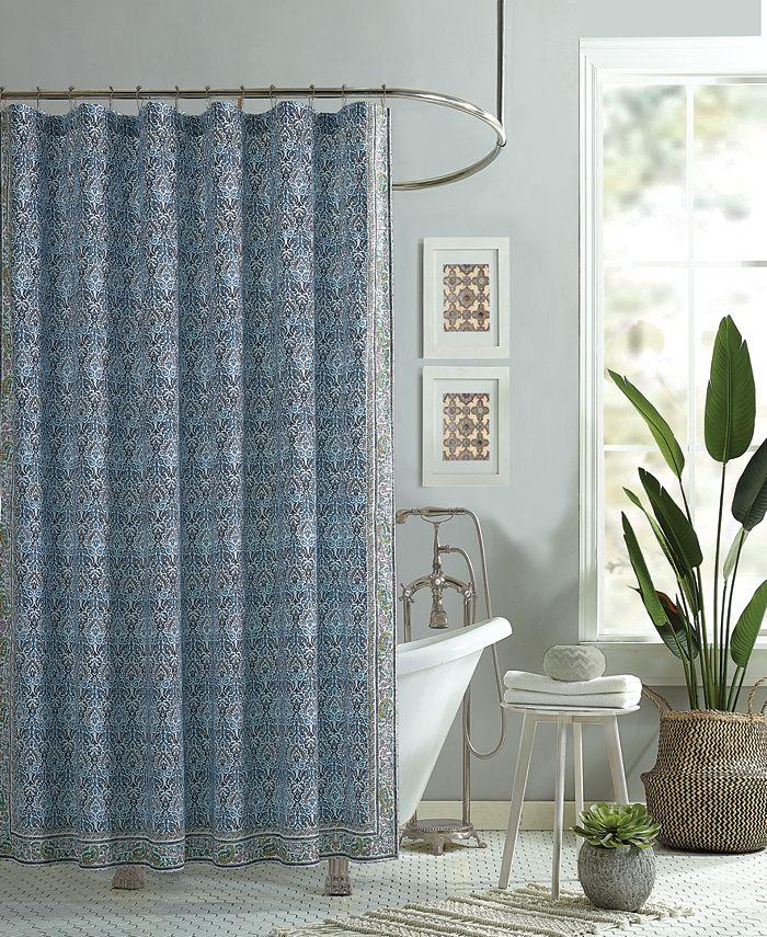 Jessica Simpson - Talca Lined Cotton Shower Curtain