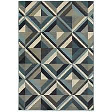 "Oriental Weavers Linden 7902A Blue/Grey 1'10"" x 3' Area Rug"