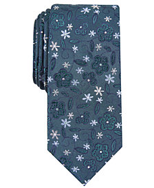 Bar III Men's Stengel Floral Skinny Tie, Created for Macy's