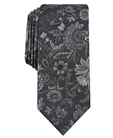 Bar III Men's Passaid Floral Skinny Tie, Created for Macy's