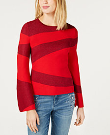 I.N.C. Colorblocked Bell-Sleeve Sweater, Created for Macy's
