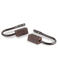 Alder Curtain Rod Holdback (pair)