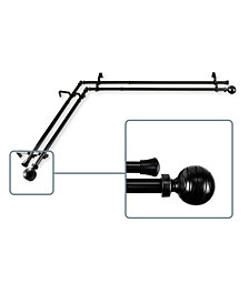 Arman Double Corner Curtain Rod 13/16 inch dia 48-84 inch