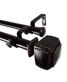 """Bennett Double Curtain Rod 1"""" OD 160-240 inch"""