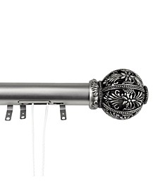 "Lacey Decorative Traverse Rod w/ Sliders 48""- 84"""