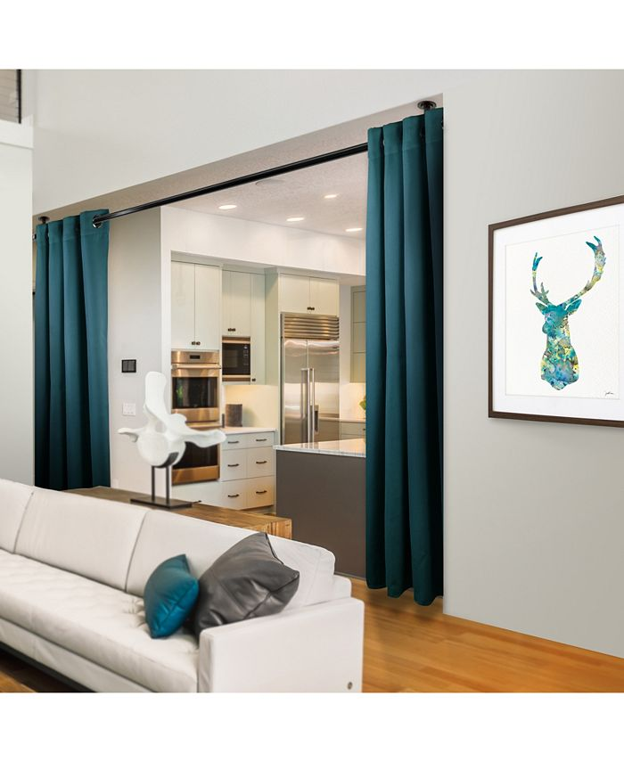 "Rod Desyne - Room Darkening Curtain - Turquoise 120"" x 108"""
