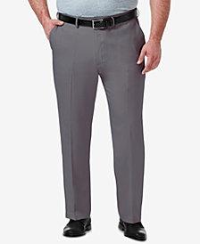 Haggar Men's Big & Tall Premium Comfort Stretch Classic-Fit Solid Flat Front Dress Pants