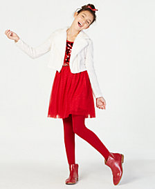 Beautees Big Girls 2-Pc. Moto Jacket & Sequin Dress Set