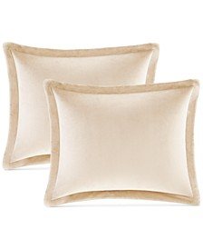 CLOSEOUT! Reversible Sherpa 4-Pc. Standard/Queen Pillow & Sham Set