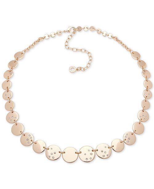 552876ffb0af Anne Klein Gold-Tone Pavé Disc Collar Necklace