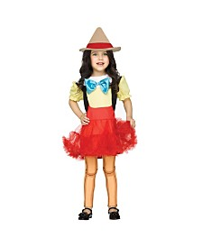 Wooden Girl Doll Toddler Girls Costume
