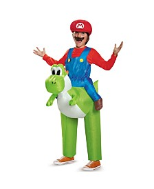 Super Mario Bros Ride A Yoshi Inflatable Little and Big Boys Costume
