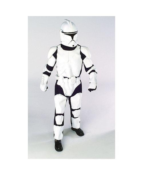 BuySeasons Star Wars Deluxe Clone Trooper Little and Big Boys Costume