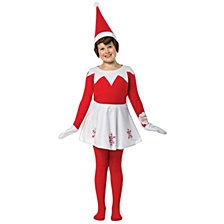 Elf on The Shelf Dress Big Girls Costume One Size