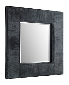 32 inch Square Textured Wood Mirror