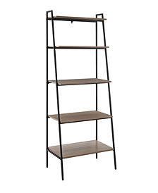 72 inch Metal and Wood Ladder Shelf