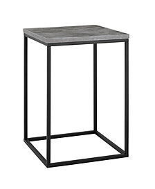 16 inch Open Box Side Table in Dark Concrete