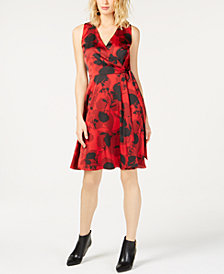 I.N.C. Floral-Print Tie-Waist Dress, Created for Macy's