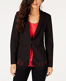 I.N.C. Fringe-Trim Blazer, Created for Macy's