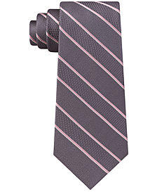 Michael Kors Men's Multi-Weave Satin Stripe Silk Tie