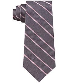Michael Kors Men's Multi-Weave Satin Stripe Silk Tie
