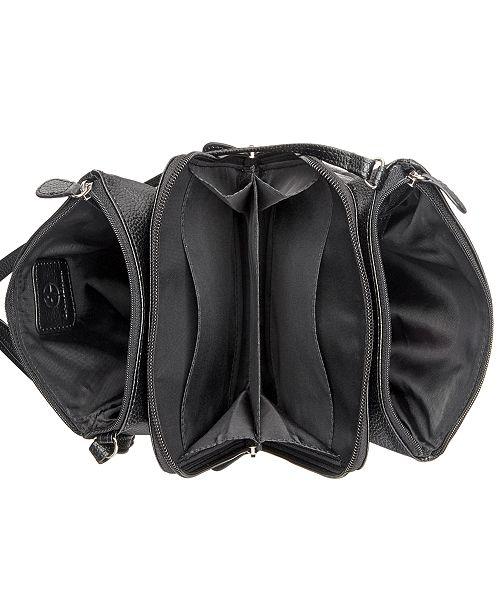 2e314d12b8f8 ... Giani Bernini Triple-Zip Pebble Leather Dasher Crossbody