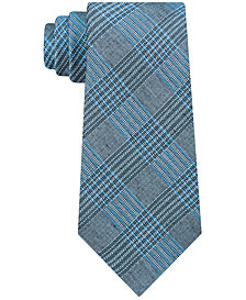 Calvin Klein Men's Bold Schoolboy Plaid Slim Tie