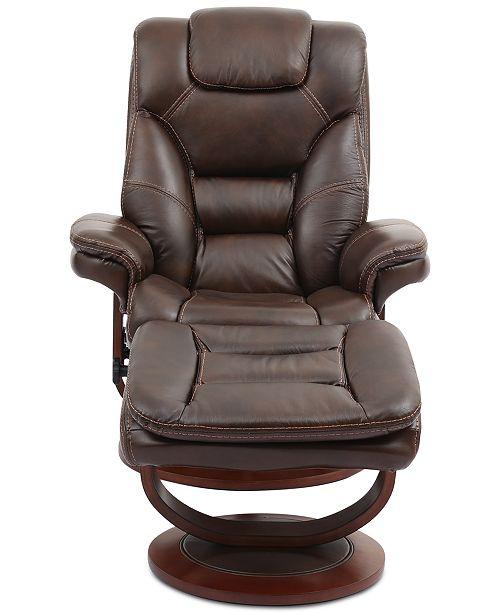 Excellent Faringdon Leather Euro Chair Ottoman Creativecarmelina Interior Chair Design Creativecarmelinacom