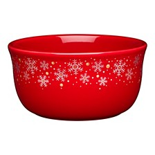 Scarlet Snowflake 28 oz Gusto Bowl