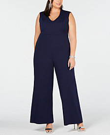Soprano Trendy Plus Size V-Neck Jumpsuit