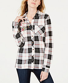 PROJECT 28 NYC Embroidered Plaid Shirt