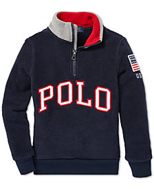 Polo Ralph Lauren Toddler Boys Fleece Mock Neck Pullover