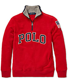 Polo Ralph Lauren Big Boys Fleece Mockneck Pullover