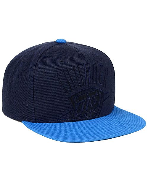 wholesale dealer cf107 c6dd2 ... Mitchell   Ness Oklahoma City Thunder Cropped Satin Snapback ...