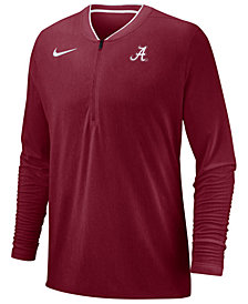 Nike Men's Alabama Crimson Tide Coaches Quarter-Zip Pullover 2018