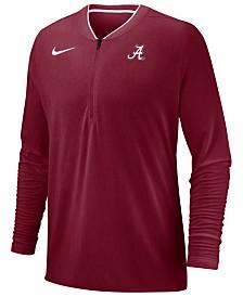Nike Men's Alabama Crimson Tide Coaches Quarter-Zip Pullover 2018