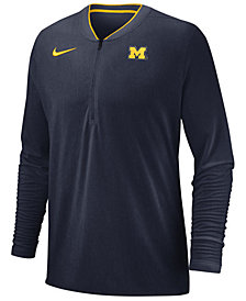 Nike Men's Michigan Wolverines Coaches Quarter-Zip Pullover 2018