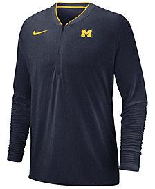 Nike Men's Michigan Wolverines Coaches Quarter-Zip Pullover 2018