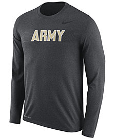 Nike Men's Army Black Knights Legend Sideline Long Sleeve T-Shirt 2018