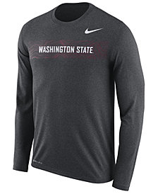 Nike Men's Washington State Cougars Legend Sideline Long Sleeve T-Shirt 2018