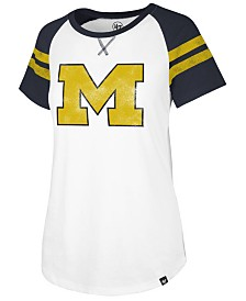 '47 Brand Women's Michigan Wolverines Fly Out Raglan T-Shirt