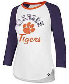 '47 Brand Women's Clemson Tigers Script Splitter Raglan T-Shirt
