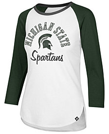 '47 Brand Women's Michigan State Spartans Script Splitter Raglan T-Shirt