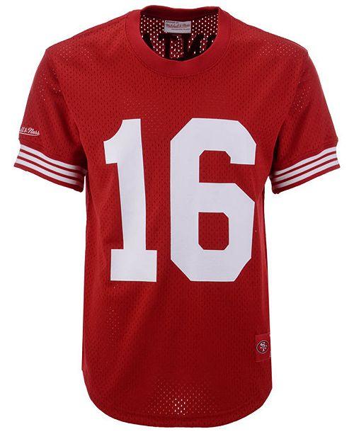 the best attitude d57de 3ecd7 Men's Joe Montana San Francisco 49ers Mesh Name and Number Crewneck Jersey