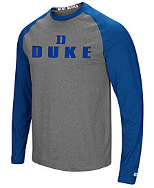 Colosseum Men's Duke Blue Devils Social Skills Long Sleeve Raglan Top