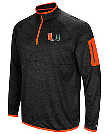 Colosseum Men's Miami Hurricanes Amnesia Quarter-Zip Pullover
