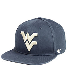 '47 Brand West Virginia Mountaineers Navy Go Shot Captain Snapback Cap