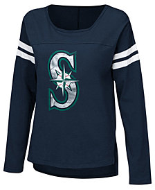Touch by Alyssa Milano Women's Seattle Mariners Free Agent Long Sleeve T-Shirt