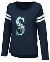 Touch by Alyssa Milano Women s Seattle Mariners Free Agent Long Sleeve T- Shirt 450171c8c