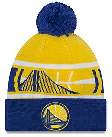 New Era Boys' Golden State Warriors Jr. Callout Pom Hat
